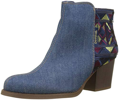 Desigual Damen Shoes_Country_Exotic Denim Stiefeletten Blau Medium Wash 5053, 40 EU