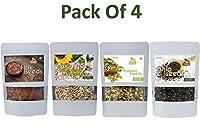 Chia Seeds, Flax Seeds, Pumpkin Seeds, Sunflower Seeds (Pack of 4) Each 300g