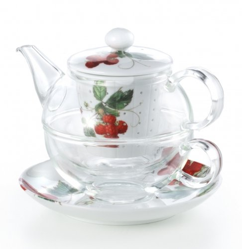 Tea-for-One Set Glas Cha Cult Wilde Beere