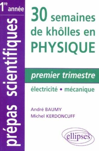 Premier trimestre : Électricité - Mécanique