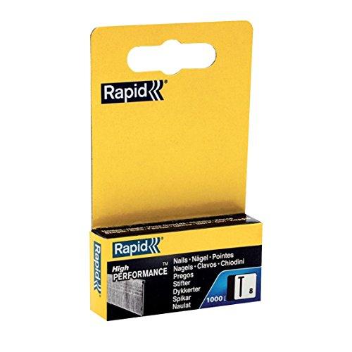 Rapid Pointes N°8, 15mm de Longueur, 1000 pièces, fil Galvanisé, Haute Performance, 11900820