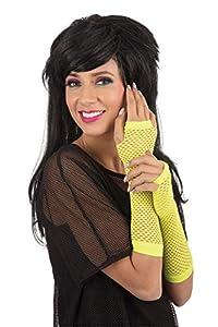 Bristol Novelty BA3319 - Guantes sin dedos para mujer, color amarillo