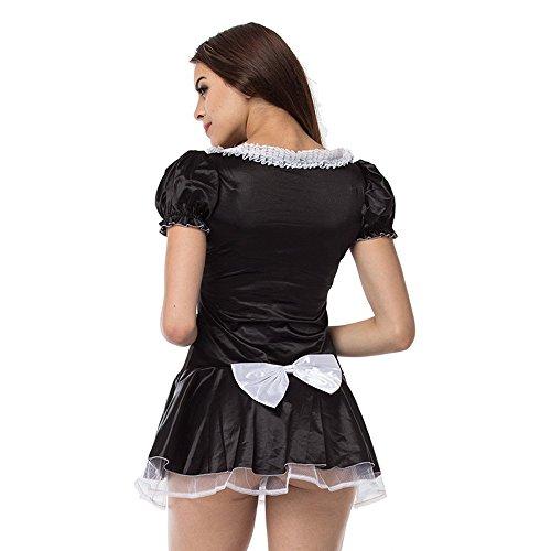 (Sexy Klassische Französisch Maid Gothic Kellnerin Diener Kostüm (Schwarz, L, M, Xxl, Xxxl),Black,L)