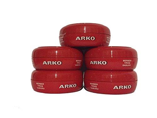 Arko Rasierseife 90 Gramm Dose - 5er Pack (Gramm-türkisch)