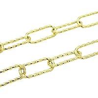 Lámpara Cadena latón 1,5metros 3,4mm de diámetro Hierro gedreht goldfarbig brillante lámpara cadena decorativa Ornamentales Cadena Resistencia 20kg