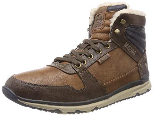 Mustang High Top Sneaker, Zapatillas Altas para Hombre, Marrón (Kastanie 301), 43 EU
