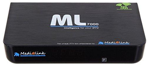 Medialink ML 7000 IPTV Settopbox Multimedia Player Internet TV IP Receiver + HDMI Kabel 1 Meter + 2 Fernbedienungen, schwarz, IPTV Portal, MultiKom-DeltaSat GmbH & Co.KG*