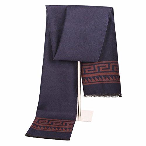 ZHANGYUQI Casual Business Männer Herbst Und Winter Lattice Imitation Kaschmir-Pullover Warme Schal,C13