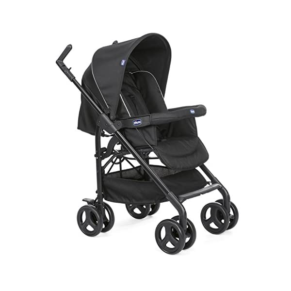 Chicco Trio-System Sprint Black with Car Kit, Black Night Chicco Sprint is a lightweight sports car with a large, comfortable seat / bed With baby shell synthesis 0+ incl. 5-point-belt, kiva with 3-point-belt incl. kit car, rain cover Incl. exit bag with changing mat, footmuff, comfort handles (360 ° ergonomic twist-push handles), hanging basket 3
