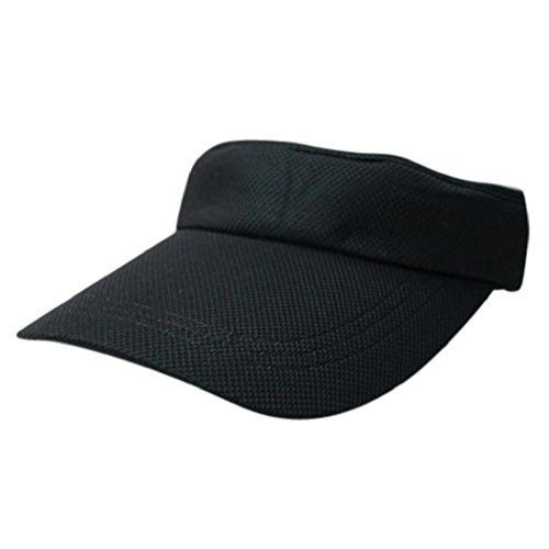 41IAjn pjpL BEST BUY UK #1Anglewolf Sports Tennis Golf Sun Visor Hats Adjustable Plain Bright Colors Caps (Black) price Reviews uk