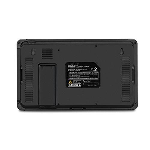 NAVISKAUTO 10,1 Zoll DVD Player Auto 2 Monitore Tragbarer DVD Player mit zusätzlichem Bildschirm 5 Stunden Akku Kopfstütze Monitor Fernseher Dual Bildschirm1014 - 8
