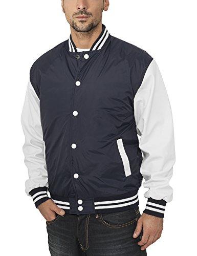 Urban Classics Jacke Light Jacket, Blouson Homme Multicolore (Navy/White)