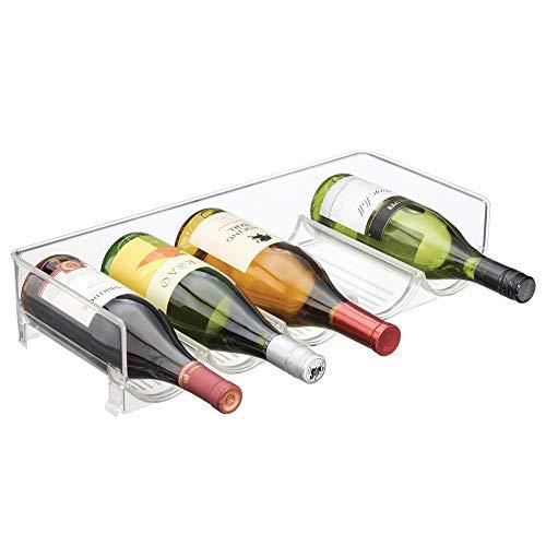 Práctico almacenaje para vinos y bebidas - Botellero apilable para frigorífico y vinoteca de mDesign      Muchos vinos y otras bebidas saben mejor cuando los bebemos fríos. Sin embargo, pocas neveras ofrecen un espacio tan adecuado para enfri...