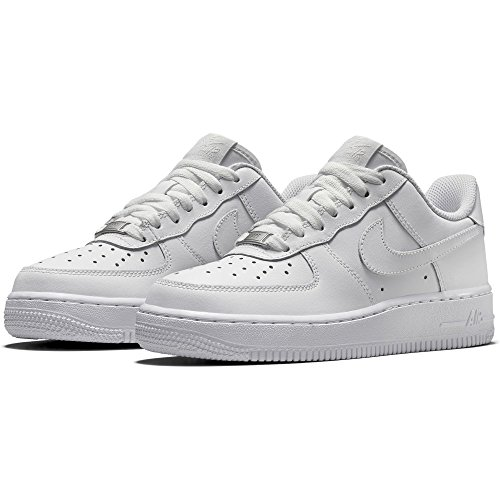 premium selection 7d2f1 8908f Nike Kids Air Force 1 (GS) White White White Basketball Shoe 6