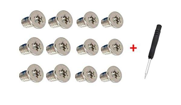 Outil Torx T5 de Remplacement pour bo/îtier inf/érieur de bo/îtier de bo/îtier pour Dell XPS 13 9343 9350 9360 15 9550 9560 9570 Precision M5510 13,3 Lot de 12 vis M2 x 3 mm
