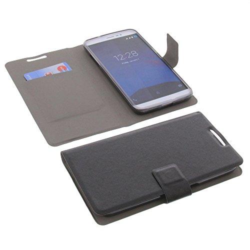foto-kontor Tasche für coolpad Porto S Book Style Ultra-dünn Schutz Hülle Buch Schwarz