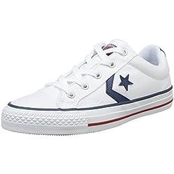 Converse Star Player Adulte Core Canvas Ox - Zapatillas deportivas, unisex, Blanco (Blanc/Noir), 37 EU