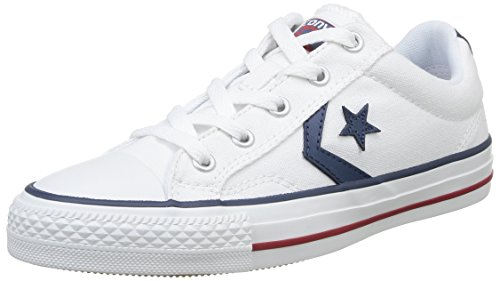 Converse, Star Player Adulte Core Canvas Ox, Sneaker, Unisex - adulto Bianco (Blanc/Noir)