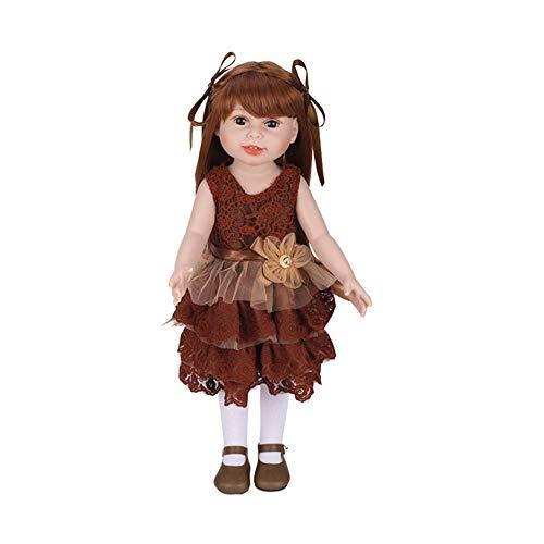 (Babypuppe,Marlene Mädchen Puppe Baby Puppe Realistische Reborn Puppen Spielzeug Mit Schöne Kleidung Und Schuhe)