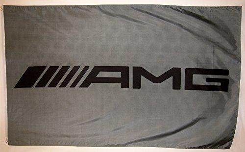 5' Outdoor Indoor Banner (Mercedes AMG Racing Auto Flagge 3'x 5' Indoor Outdoor Banner)