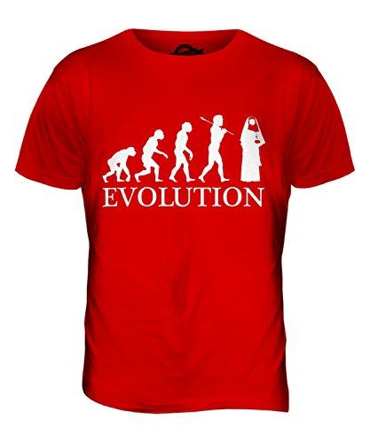 CandyMix Suora Evoluzione Umana T-Shirt da Uomo Maglietta Rosso