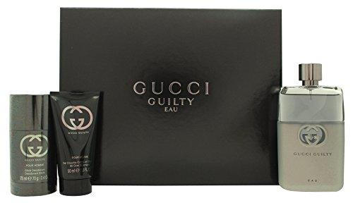 Gucci Sheepish EAU Pour Homme Geschenkset 90ml EDT Spray + 75ml Deodorant Stick + 50ml Duschgel