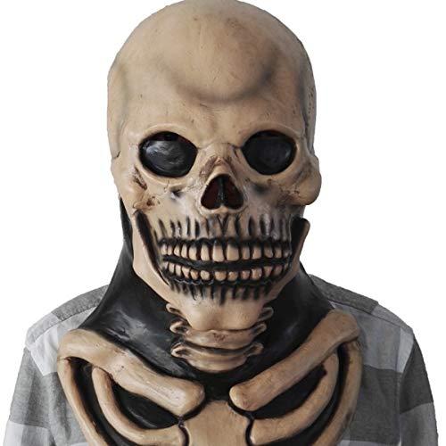 KGAYUC® Maske, Terror Geist Maske Latex, Maske Halloween Cosplay, Kostüm Party Latex Beängstigend, Cosplay Horror Prop Gesichtsmaske Requisiten Spielzeug, Sehr Natürliche Realistische