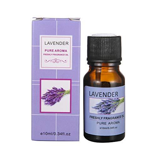 Aromatherapie Öle,About1988 100% Pure Aroma Öle, Aromatherapie Duftöl für Diffuser/Duftlampen/Lufterfrischer Geeignet (Sleep, Immunity, Relaxation, Decompression, Breathe) 10ml (Lavendel J) - Additiv Duft Luftbefeuchter