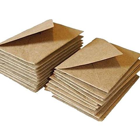 The Paperbox - Paquete de 100 sobres C7, papel kraft reciclado, tamaño pequeño