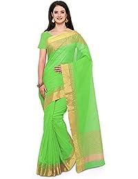 Saree Mall Art Silk Saree With Blouse ( Parrot Green_sarees Latest Design 2RGO2032 )