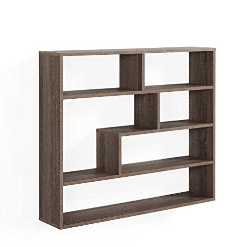 Danya B. Large Rectangular Shelf Unit - Weathered Oak - Oak Media-unit