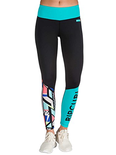 Damen Skiunterwäsche Rip Curl Active Leggings Impact Funktionshose Black