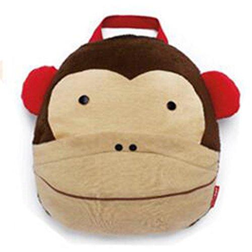 hibote Baby Borse Asciugamani Coperte bambini del fumetto di corallo del panno morbido accappatoio (Caffè delle scimmie)