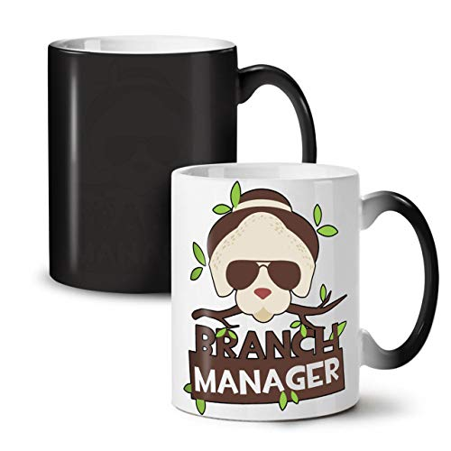 Wellcoda AST Manager Scherz Komisch Farbwechselbecher, Wild Tasse - Großer, Easy-Grip-Griff, Wärmeaktiviert, Ideal für Kaffee- und Teetrinker