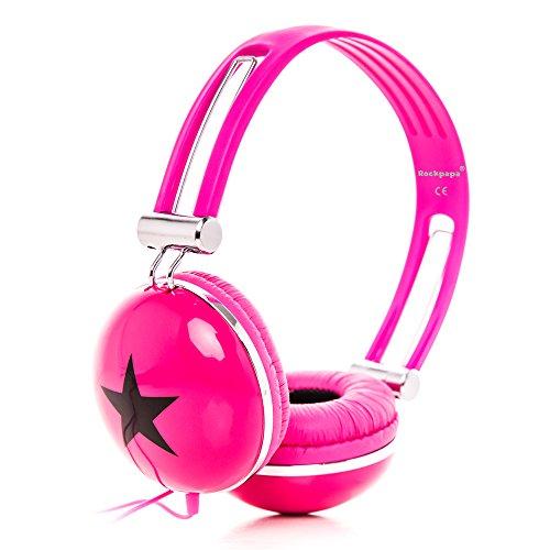 RockPapa OV820S DJ Cuffie per Bambini / Adulti, Regolabile, Over-Ear per Smartphone, Tablet, MP3/4, DVD, iPod, iPad, iPhone Rosa