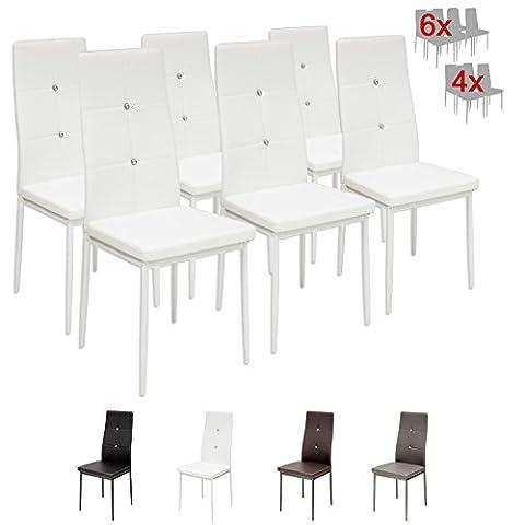 Albatros 3099 Diamond 6 x Esszimmerstühle weiss, SGS