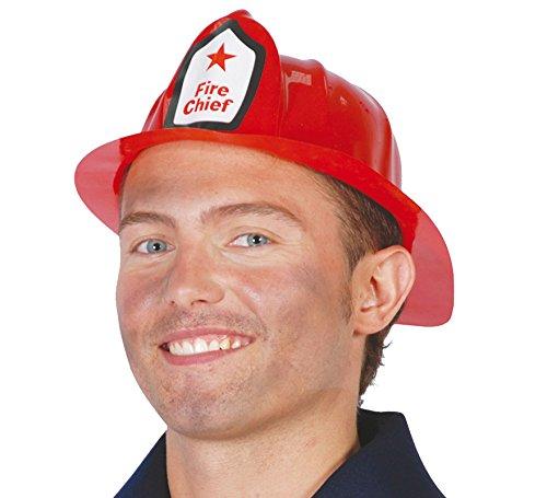 Karnavale Adult roten Kunststoff-Feuerwehrmann