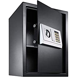 TecTake Coffre-fort avec Serrure Électronique Porte + 4 Piles - diverses tailles au choix - (50x35x34.5cm (Art. 400566))