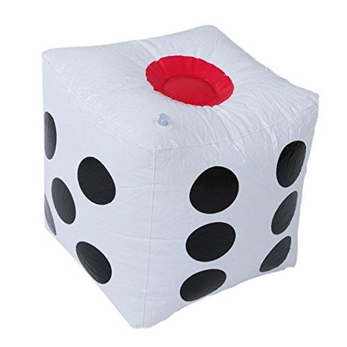 SODIAL(R) 32cm Dado cubo explotado inflable Decoraciones de fiesta poker del casino...