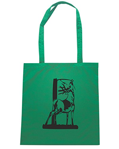 T-Shirtshock - Borsa Shopping FUN1170 deer head 06 94289 Verde