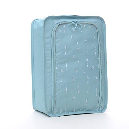 Arxus Travel Schuhbeutel Portable leichte wasserdichte Reißverschluss-Organisator-Beutel (Licht Blau) (Schwimmen Licht Boot)