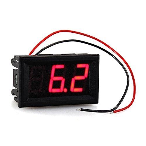 TOOGOO(R) Mini Voltimetro Medidor de Voltaje Presion Digital DC 7V-120V Rojo