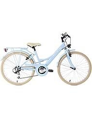KS Cycling Kinder Toskana Blau 6 Gänge Fahrrad, Hellblau, 24