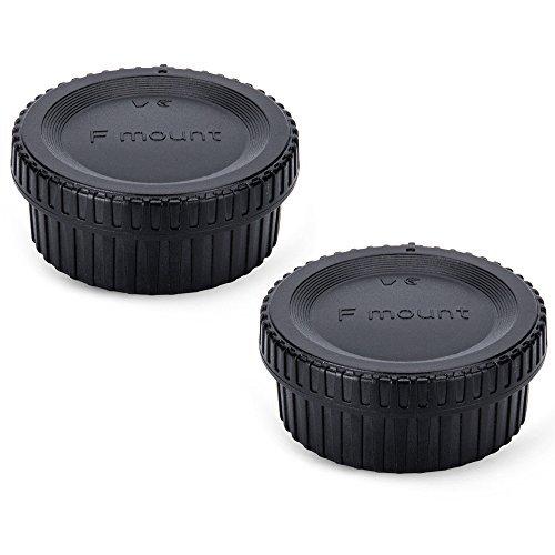 JJC Lens Posteriore Cap + Tappo Corpo per Fotocamere Nikon F e Obiettivo F Montate - Versione di Lusso Aggiornata (2 Set)