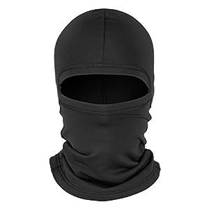 ZAGANO Sturmhaube/Skimaske/Kopfhaube/Gesichtsmaske – extra lang am Hals – SCHWARZ und WEISS