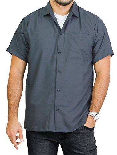 La Leela Men's Hawaiian Beach Camp Shirt Button Down Front Pocket Short Sleeves Matching Pocket Easy to Carry Rayon