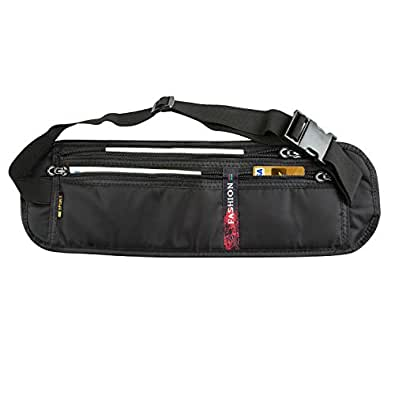 TRIXES Travel Money Belt for Security Pouch Passport Cash Money Holiday