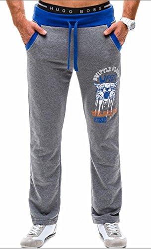 I VVEEL Herren Frühling Herbst Gepard Print Trainingsanzug Böden Training Hose (Nadelstreifen-shorts Elastische Taille)