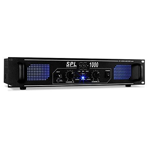 Skytec SPL1000 DJ PA Audio LED Verstärker 2800W Equalizer