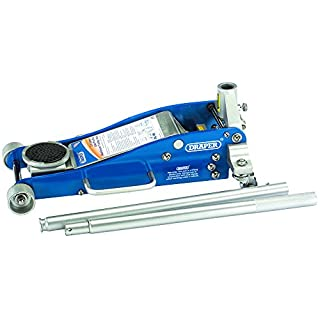 Draper Tools 31479 Aluminium/Steel Trolley Jack with Quick Lift Facility  2.5 Ton